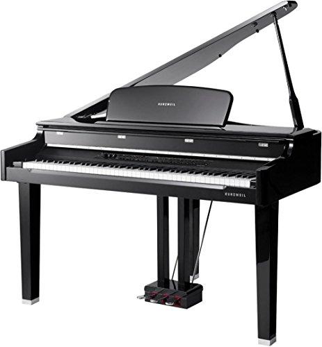 Kurzweil CGP220W 3-Foot Mini-Grand Piano with Wood-Embedd...