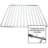 Spares2go Universal Chrome Adjustable Fixed Arm Grill Shelf for all Oven Cooker & Grill (310mm x 360 / 590mm)