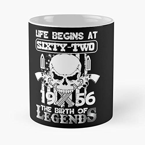 Life Begins At Sixty Two 1956 The Birth Of Legends Gift Tee Tshirt Birthday Shirt Gift Coffee/tea Ceramic Mug Father Day