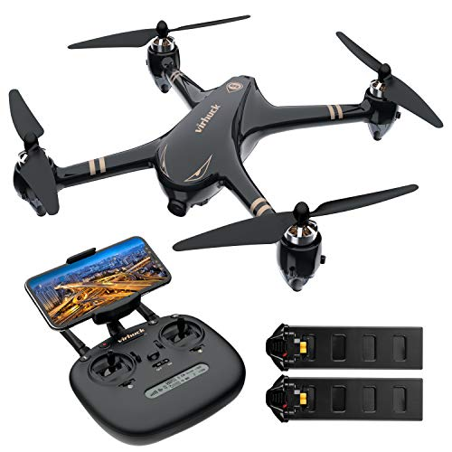 Virhuck V-6 RC Drone with 1080p FHD Camera 5G WiFi FPV Live Video and GPS Return Home Function RC Quadcopter for Beginners Adults with Brushless Motor, Follow Me, Double Play Time (+Bonus Battery) Review