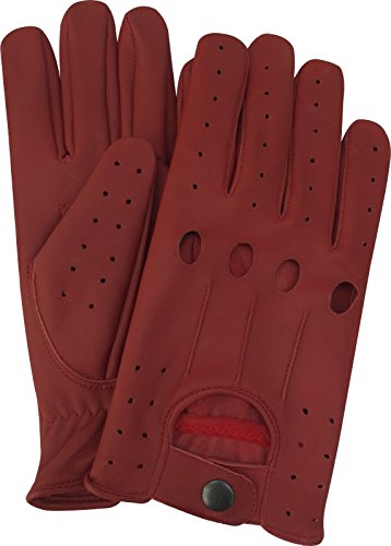 UPC 092528540588, A K Leather Men's Unlined Lambskin Soft Leather Fashion Driving Gloves (X-Large, Red)