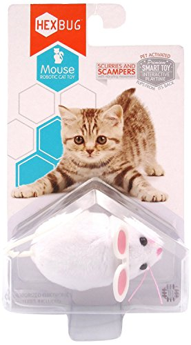 Hexbug Mouse Robotic Cat Toy White w Extra Battery Pack