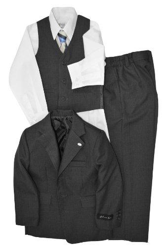 Johnnie Lene Dress Up Boys Designer Suit Set JL5016 (12 Husky, ()