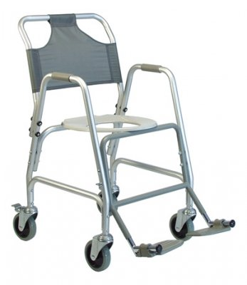 Transport Deluxe Shower Chair - BATHROOM SAFETY - Deluxe Shower Transport Chair with Footrests #7915A-1