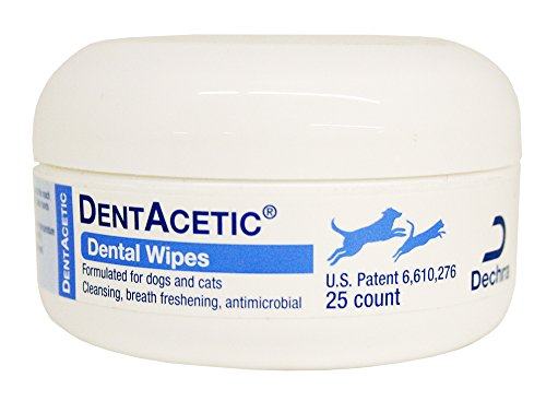 Dog Dentacetic (Dechra DentAcetic 25 Count Dental Wipes)