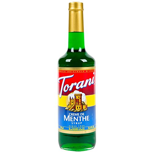 Torani Creme De Menthe Syrup (1 Single 750 ml bottle)
