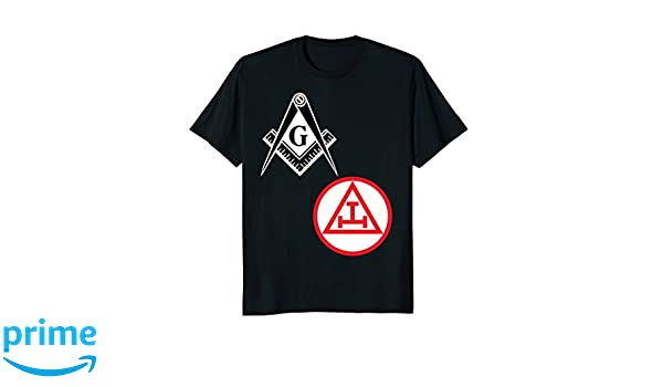 Amazon.com  Mens Mason Royal Arch Split T Shirt Masonic York Rite Tee Black   Clothing 8a9953e6b3a1