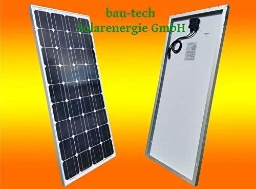 bau-tech Solarenergie 100Watt 12V Solarmodul Solarpanel Photovoltaik Solarzelle Monokristallin GmbH