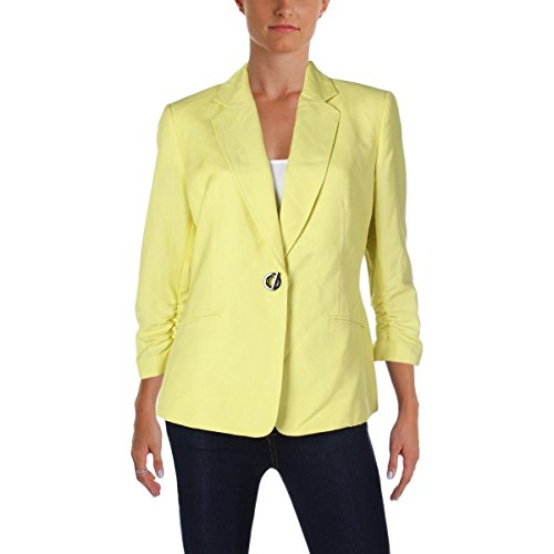 Kasper Women's Linen 1 Button Jacket with Pocket Detail, Mojito, 10
