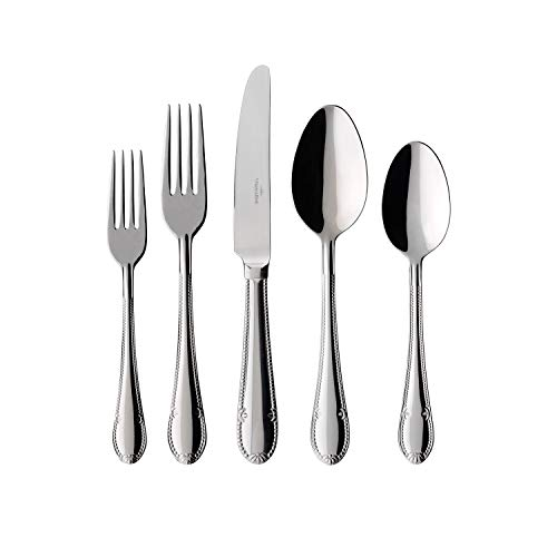 Villeroy & Boch Mademoiselle Set of Cutlery for up to 6 People, 30 Pieces, Stainless Steel (Villeroy & Boch Mademoiselle 64 Piece Set)