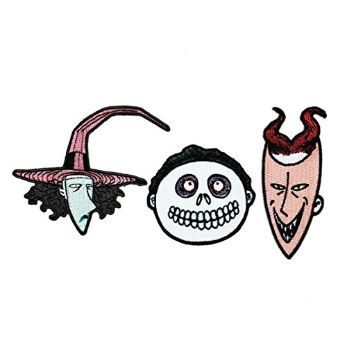 Set of 3 Lock, Shock, Barrel Iron-On Patches NBC Trick-Or-Treat Kids Appliques ()
