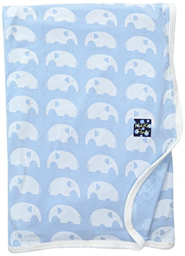 - KicKee Pants Baby Essentials Swaddling Blanket Boys, Pond Elephant, One Size