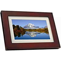 GiiNii SPF3403/G7 10Digital Picture Frames (Brown/Black with White Mat)
