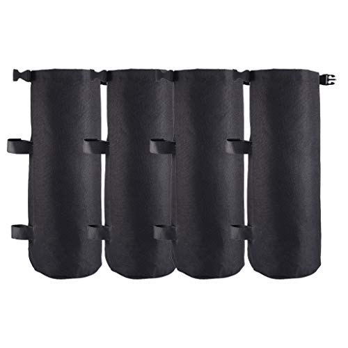 Price comparison product image Startview Extra Large Canopy Leg Weights Sand Bags Suitable for Canopy Tent 4-Pack B K (Black)