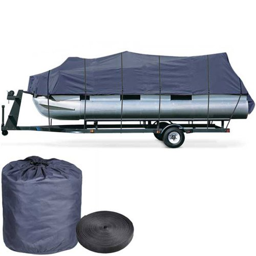 Yescom 600D Oxford Blue 21-24ft Pontoon Boat Cover 600d Oxford