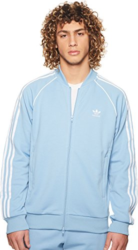 adidas Originals Men's SST Track Top Ash Blue Large