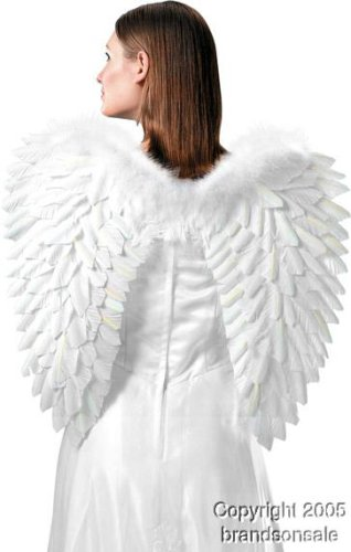 [Roma Costume Feather Wings, White, One Size] (Fantasy Life Angel Costume)