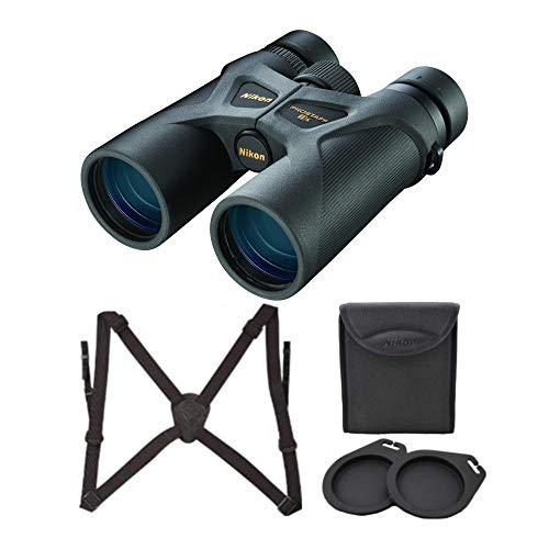 Nikon 8x42 ProStaff 3S Binoculars (Black) Lens-Pen & Harness Bundle (3 Items)