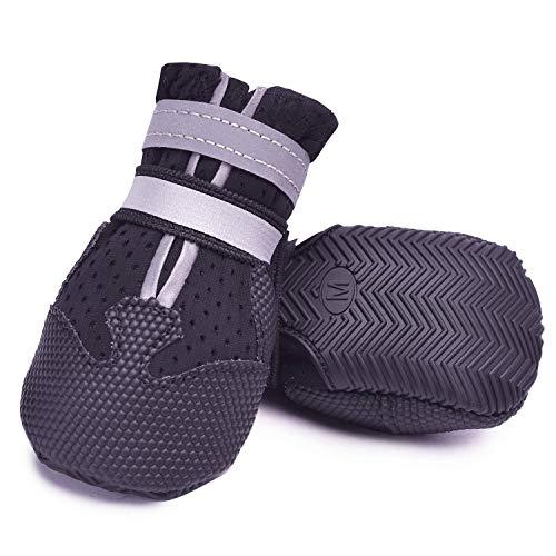 Ulandago Breathable Dog Boots Nonslip Rubber Soft Sole for Summer
