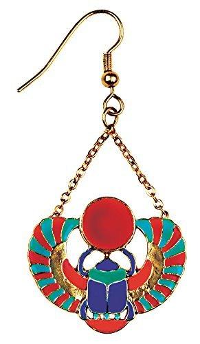 Winged Scarab Earrings - Collectible Dangle Jewelry Accessory Jewel (Scarab Earrings)