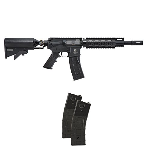 Tiberius Arms T15 Paintball Marker Gun Rifle - Black w/ 2 Extra ()