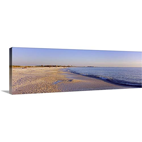 GREATBIGCANVAS Gallery-Wrapped Canvas Entitled Waves on The Beach, Lovers Key State Park, Fort Myers Beach, Gulf of Mexico, Florida by 60
