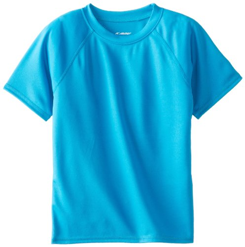 Kanu Surf Little Boys' Toddler Solid Swim Shirt, Aqua, 5T