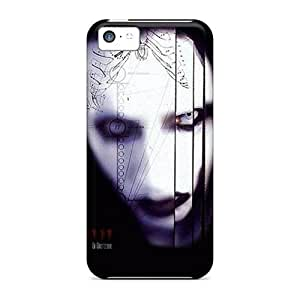 Quality Jeffrehing Case Cover With Marilyn Manson Nice Appearance Compatible With Iphone 5c wangjiang maoyi