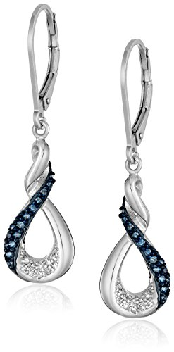 Sterling Silver Blue and White