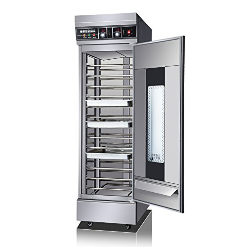 13 Trays Dough Heater Proofer Cabinet with Clear Door , 220V Stainless Steel Commercial Bread Pastry Food Warmer (#021065)