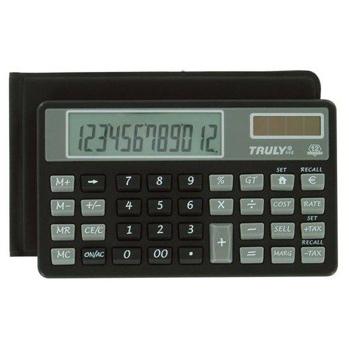 Truly ct66812bl Calcolatrice Tascabile 12Cifre Nero
