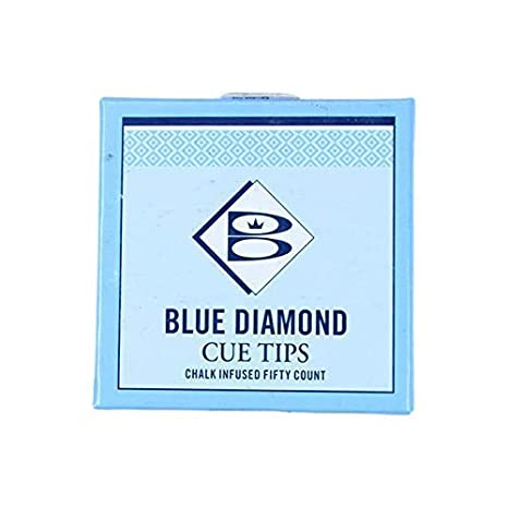 Blue Diamond - Juego de punteras de tacos de billar (5 unidades, 9 ...