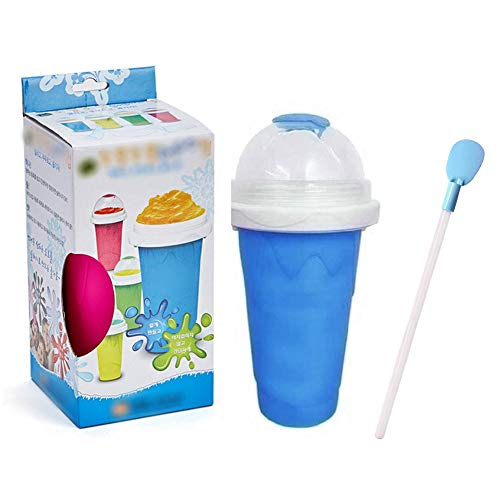 Splendidsun Slushy Maker Cup, Squeeze Cup Slushy Maker Ice DIY Homemade Cream Maker Cup, Ice Cream Smoothie Maker Juice Ice Cup Fast Cooling Magic Water Bottle (Squeeze Machine)