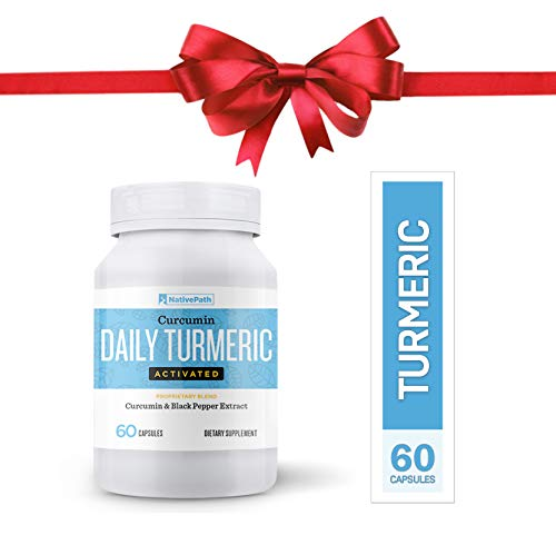 NativePath Daily Turmeric Activated Curcumin & Black Pepper Extract, Anti-Inflammatory Capsules, Provides Joint Relief and Supports Your Immune System, Mood, Memory (1)