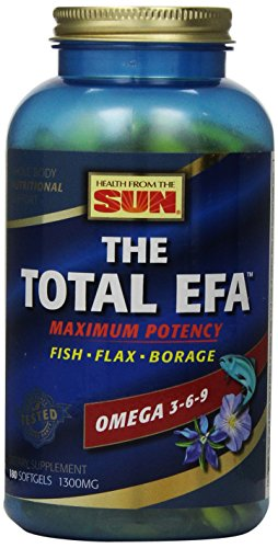 Health From The Sun, The Total EFA Maximum Omega 3-6-9, 180-Count (Total Omega 3)