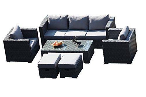 Yakoe 50121 2017 Monaco 7 Sitzer Rattan Garten Mobel Terrasse