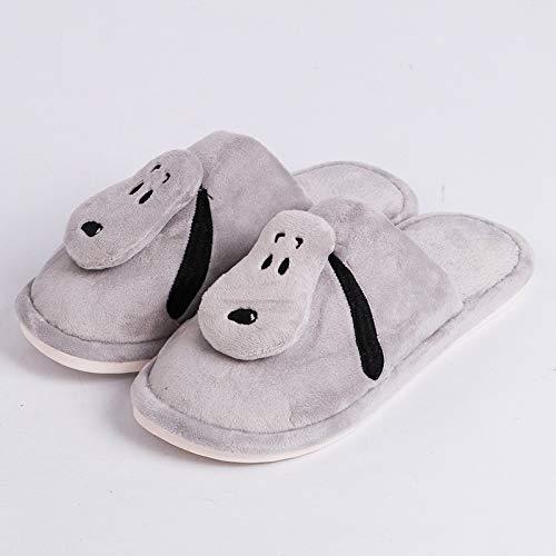 Di Cotone Calde Pantofole Weiwei Grigio Casa Comode Wei A E Velluto EqTIC