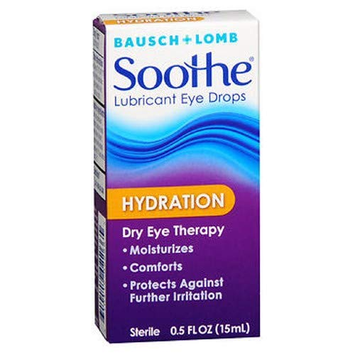 Bausch + Lomb Soothe Lubricant Eye Drops, Hydration - 0.5 oz, Pack of 5