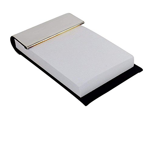 (Silver Plated Memo Holder, Office Memo Holder, Silver Plated Memo Holder with paper pad 3.25