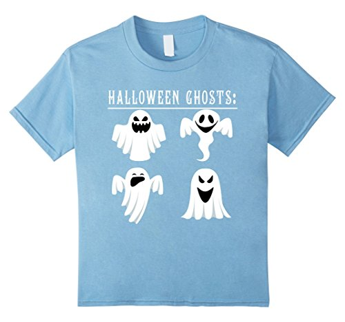 Kids Funny Halloween ghosts 2017 T-shirt halloween shirt gift 10 Baby Blue (Baby Daddy Halloween 2017)