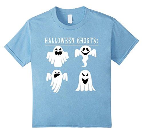 Kids Funny Halloween ghosts 2017 T-shirt halloween shirt gift 10 Baby Blue (Baby Daddy Halloween 2017)