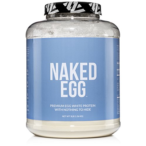 NAKED EGG 3LB Non-GMO Egg White Protein Powder from US Farms Bulk, No Additives, Paleo, Dairy Free, Gluten Free, Soy Free 25g Protein, 44 Servings
