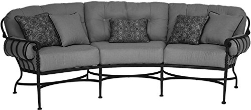 Malibu Fabric Sofa (Meadowcraft Athens Crescent Sofa, Steeplechase Malibu Fabric)