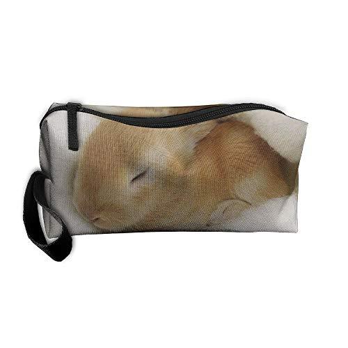 Jessent Coin Pouch Sleeping Rabbits Pen Holder Clutch Wristlet Wallets Purse Portable Storage Case Cosmetic Bags Zipper ()