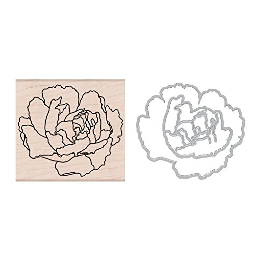 Hero Arts Clear Stamps and Frame Cuts Die Combo, Artistic Peony by Hero Arts