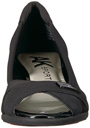 Anne Women's Black Black Klein Multi Fabric Ballet Flat Fabric Jetta rpnrx4