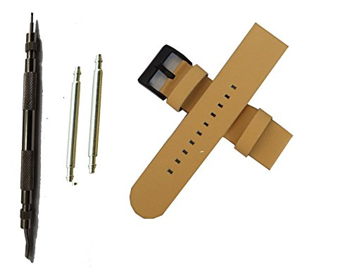 Replacement Leather Band for Lg G Watch R (light yellow)