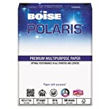 Boiseamp;reg; - POLARIS Copy Paper, 8 1/2 x 11, 24lb White, 5,000 Sheets/Carton - Sold As 1 Carton - Highly versatile premium paper designed for all types of office and high-speed production equipment.