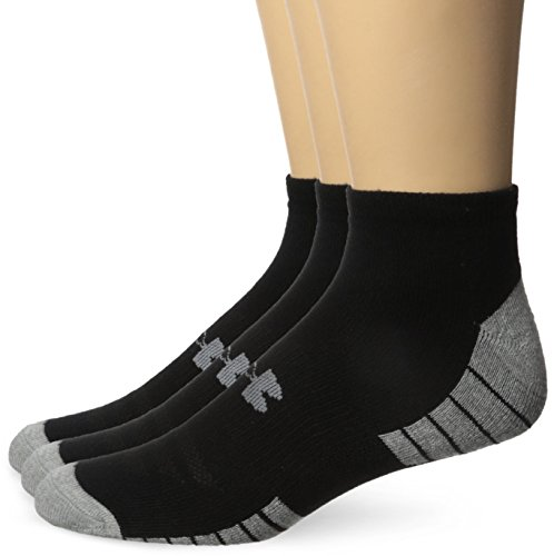 Under Armour Men's Heatgear Tech No Show Socks,  Large - Black (Pack of 3)
