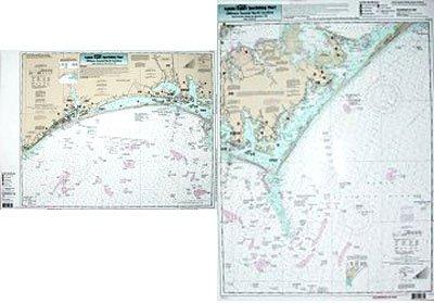 Nearshore Cape Lookout, NC - Laminated Nautical Navigation & Fishing Chart by Captain Segull's Nautical Sportfishing Charts | Chart # CLK26